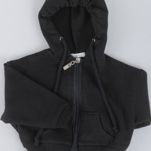[ID75]Over fit hood zip-up(Black)