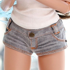 SD13 GIRL & Smart Doll New Washing Hot Pants - Gray