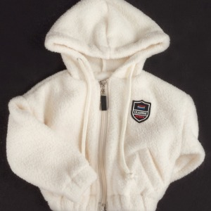 [ID75]Fluffy fleece zip-up(Ivory)