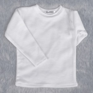 [ID75]Basic long sleeve T-shirt(White)