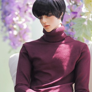 [ID75]BOY Simple turtleneck(Wine)
