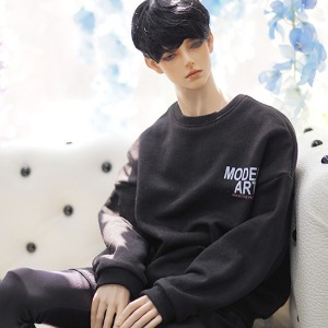 [ID75]Color casual over MTM(Black)