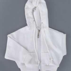 [SDB]Over fit hood zip-up(White)
